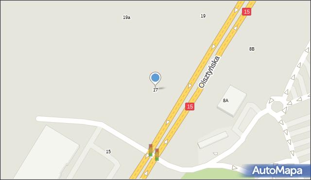 Toruń, Olsztyńska, 17, mapa Torunia