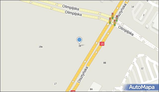 Toruń, Olsztyńska, 19, mapa Torunia