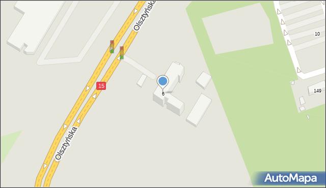 Toruń, Olsztyńska, 6, mapa Torunia