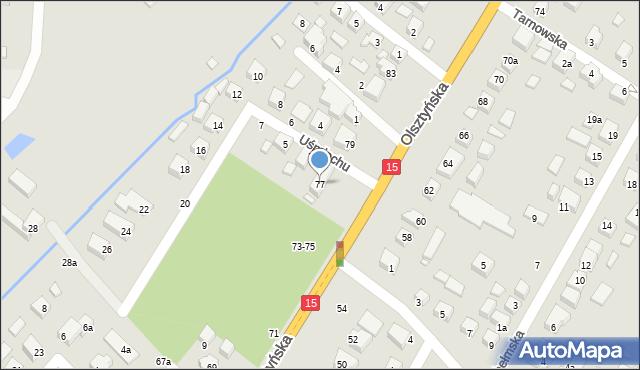 Toruń, Olsztyńska, 77, mapa Torunia
