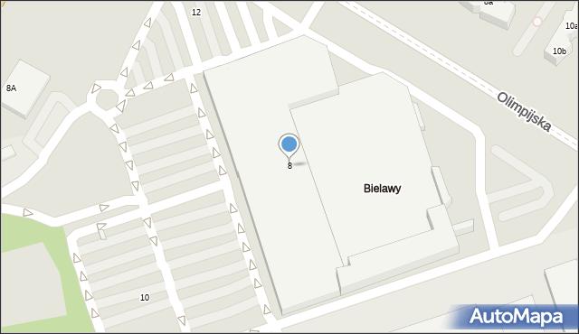Toruń, Olsztyńska, 8, mapa Torunia