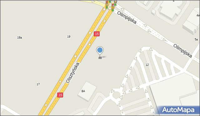 Toruń, Olsztyńska, 8B, mapa Torunia