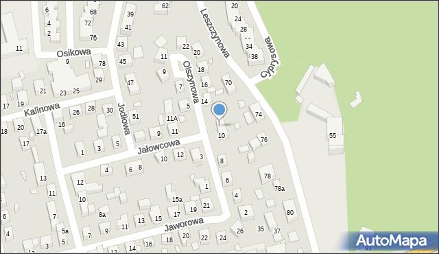 Toruń, Olszynowa, 12, mapa Torunia