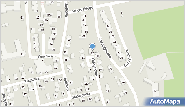 Toruń, Olszynowa, 22, mapa Torunia