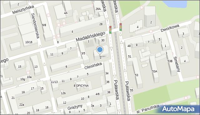 Warszawa, Olesińska, 2, mapa Warszawy