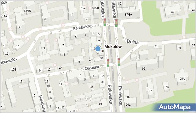Warszawa, Olkuska, 2, mapa Warszawy