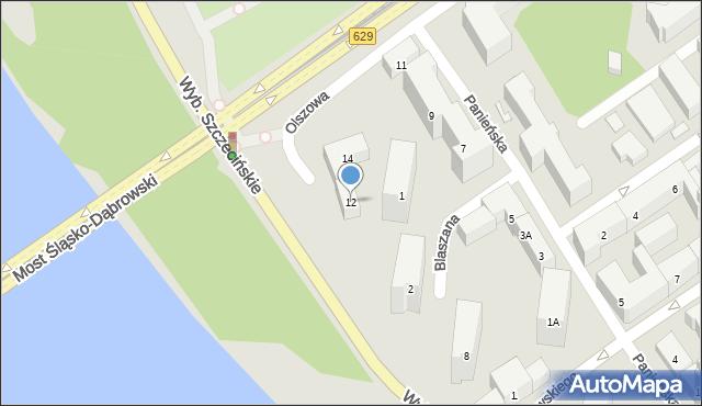 Warszawa, Olszowa, 12, mapa Warszawy