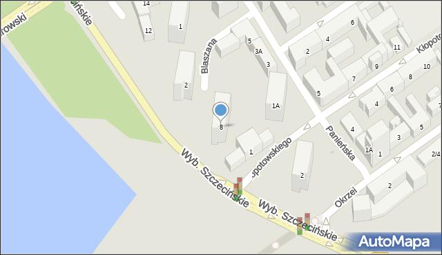 Warszawa, Olszowa, 8, mapa Warszawy