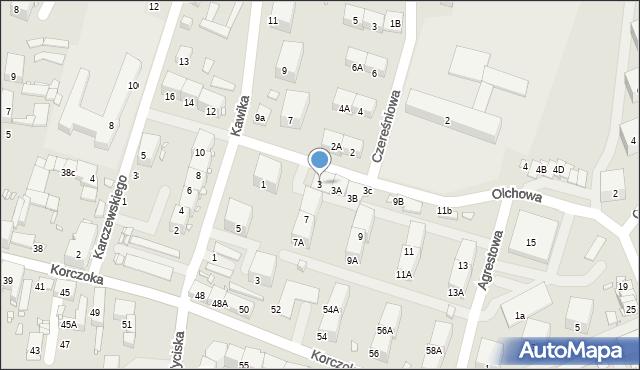 Zabrze, Olchowa, 3, mapa Zabrza