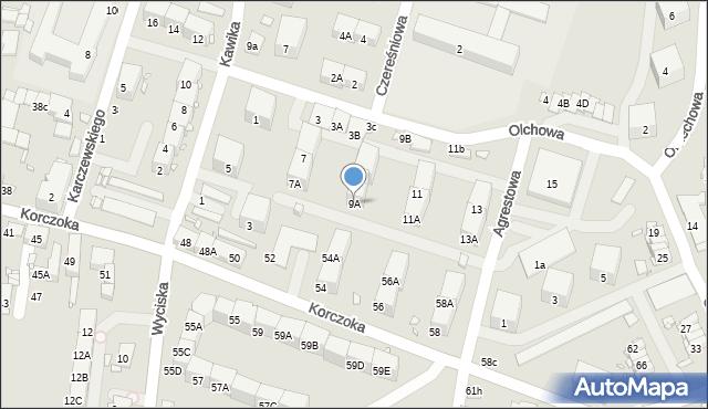 Zabrze, Olchowa, 9A, mapa Zabrza
