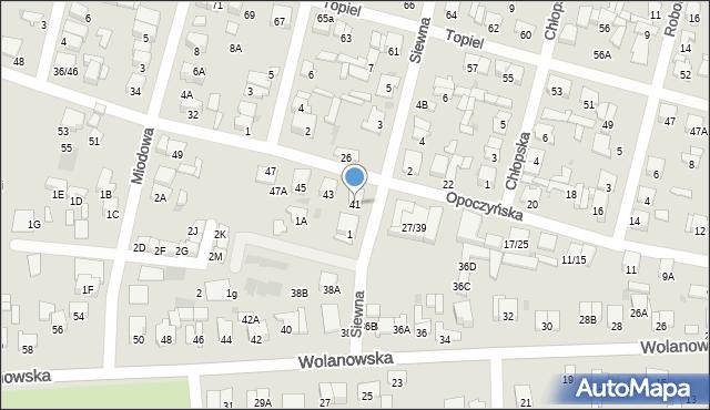 Radom, Opoczyńska, 41, mapa Radomia