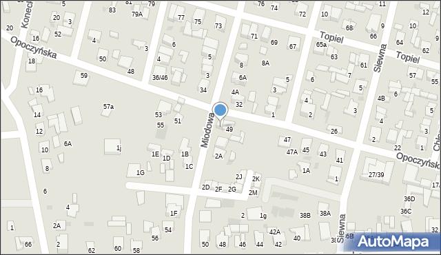 Radom, Opoczyńska, 49A, mapa Radomia