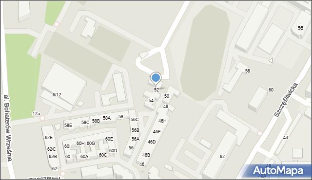 Warszawa, Opaczewska, 52, mapa Warszawy