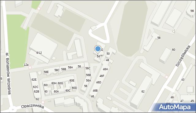 Warszawa, Opaczewska, 54, mapa Warszawy