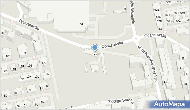 Warszawa, Opaczewska, 57, mapa Warszawy
