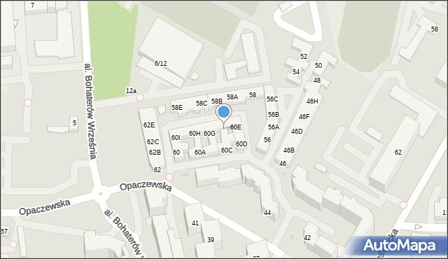 Warszawa, Opaczewska, 60F, mapa Warszawy