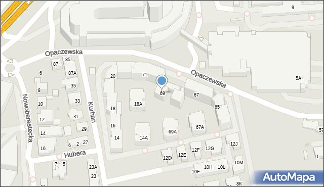 Warszawa, Opaczewska, 69, mapa Warszawy
