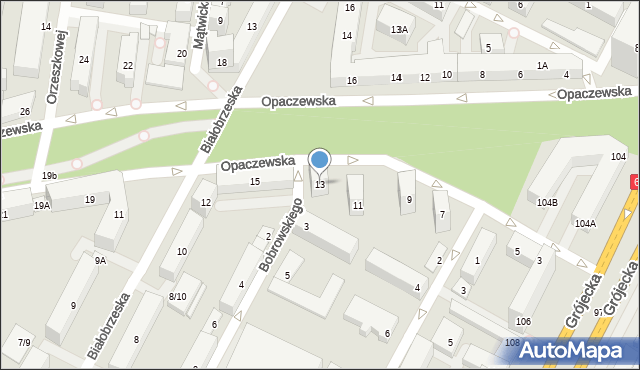 Warszawa, Opaczewska, 13, mapa Warszawy