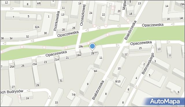 Warszawa, Opaczewska, 19, mapa Warszawy