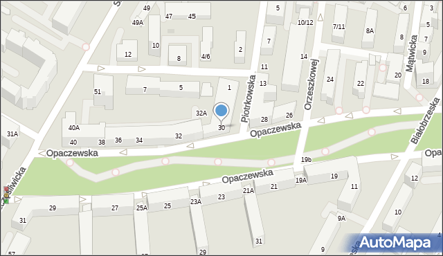 Warszawa, Opaczewska, 30, mapa Warszawy