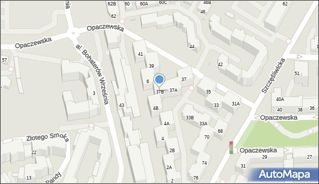 Warszawa, Opaczewska, 37B, mapa Warszawy