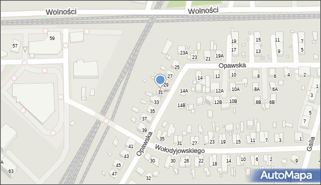 Zabrze, Opawska, 31, mapa Zabrza