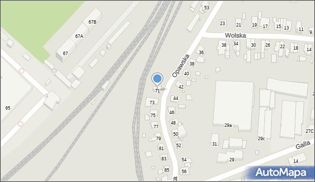Zabrze, Opawska, 71, mapa Zabrza