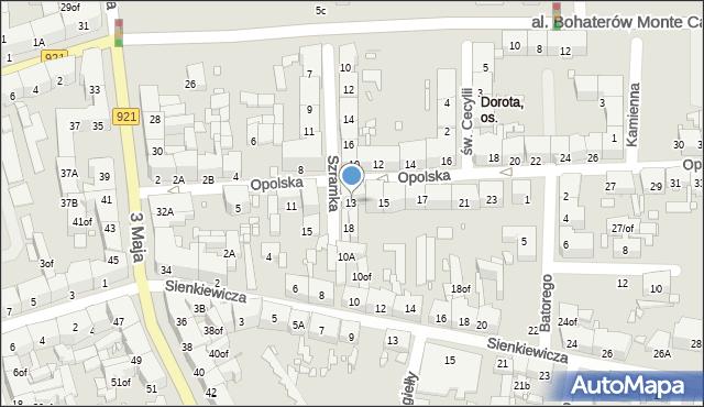 Zabrze, Opolska, 13, mapa Zabrza
