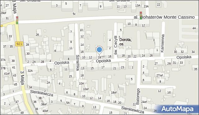 Zabrze, Opolska, 14, mapa Zabrza