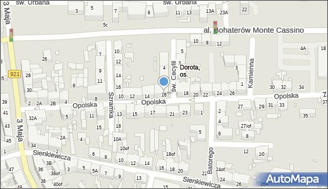Zabrze, Opolska, 16, mapa Zabrza