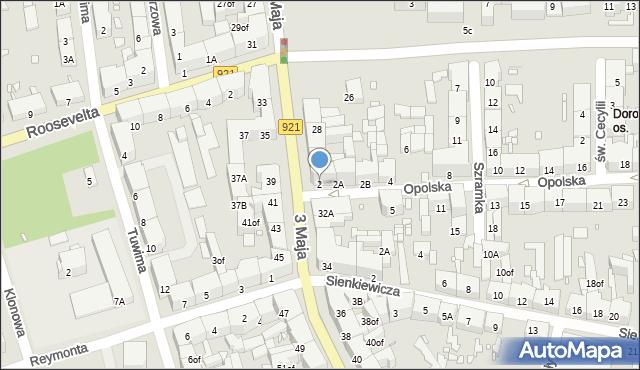 Zabrze, Opolska, 2, mapa Zabrza