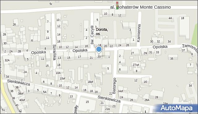 Zabrze, Opolska, 23, mapa Zabrza
