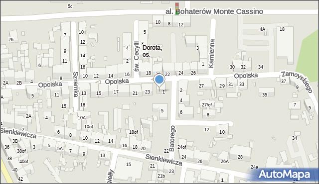 Zabrze, Opolska, 25, mapa Zabrza