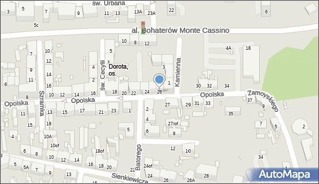 Zabrze, Opolska, 26, mapa Zabrza