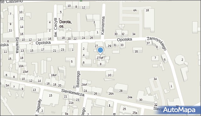 Zabrze, Opolska, 27/of, mapa Zabrza