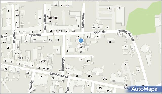 Zabrze, Opolska, 27of, mapa Zabrza