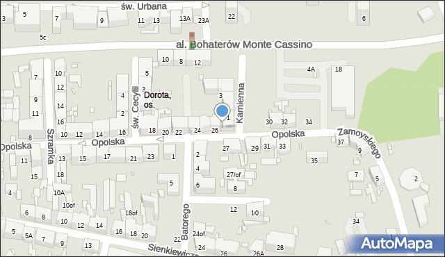 Zabrze, Opolska, 28, mapa Zabrza