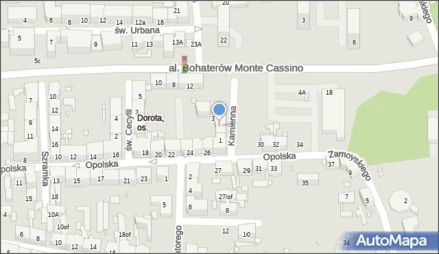 Zabrze, Opolska, 30A, mapa Zabrza
