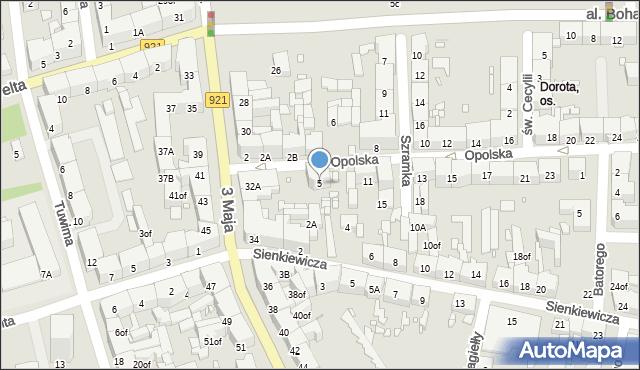 Zabrze, Opolska, 5, mapa Zabrza
