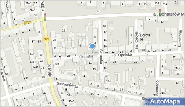 Zabrze, Opolska, 8, mapa Zabrza