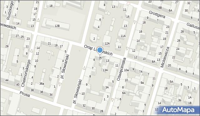 Bytom, Orląt Lwowskich, 15, mapa Bytomia