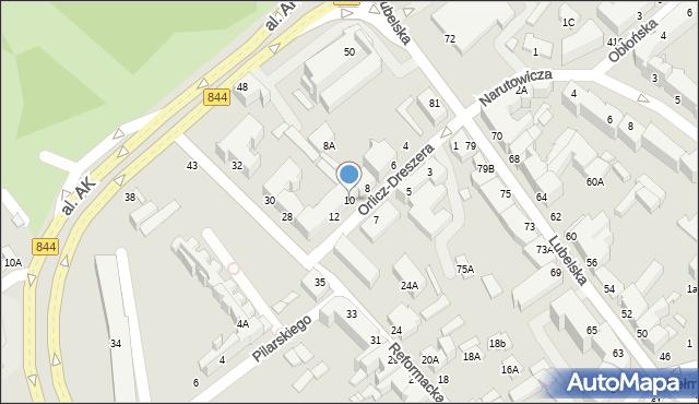 Chełm, Orlicz-Dreszera Gustawa, gen., 10, mapa Chełma