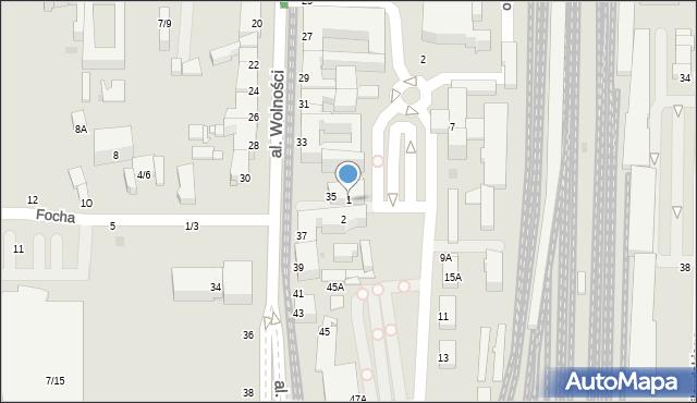 Częstochowa, Orzechowskiego, 1, mapa Częstochowy