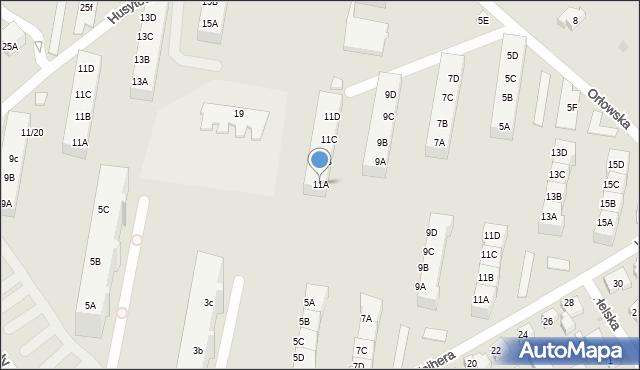 Gdańsk, Orłowska, 11A, mapa Gdańska