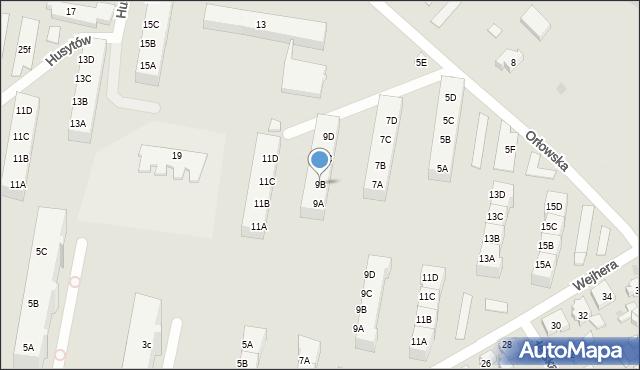 Gdańsk, Orłowska, 9B, mapa Gdańska