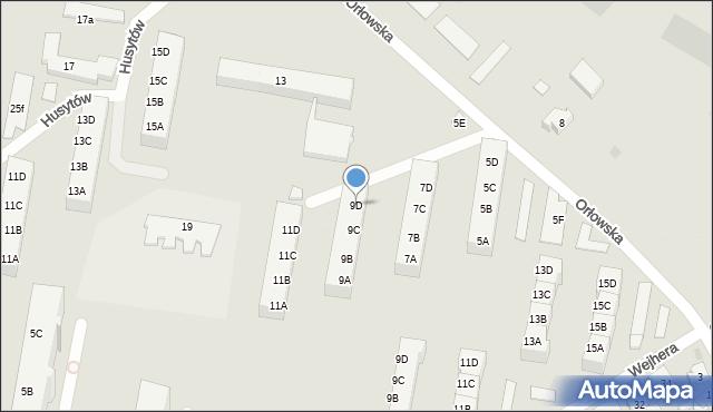 Gdańsk, Orłowska, 9D, mapa Gdańska