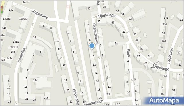 Gdynia, Orzeszkowej Elizy, 8a, mapa Gdyni