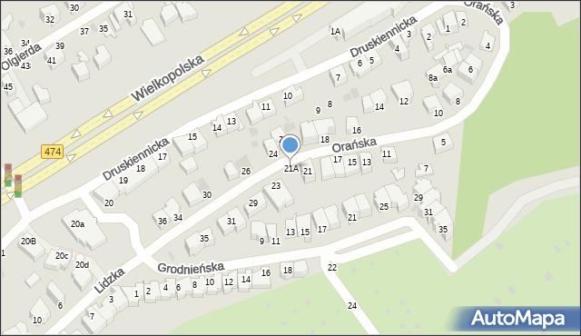 Gdynia, Orańska, 21A, mapa Gdyni
