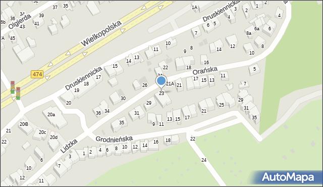 Gdynia, Orańska, 25, mapa Gdyni