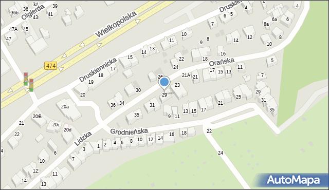 Gdynia, Orańska, 27, mapa Gdyni